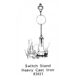 GRANDT LINE 3021 - HEAVY CAST IRON SWITCH STAND - O SCALE