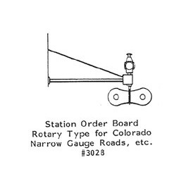 GRANDT LINE 3028 - STATION ORDER BOARD - ROTARY TYPE - O SCALE