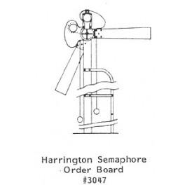 GRANDT LINE 3047 - HARRINGTON SEMAPHORE ORDER BOARD - O SCALE