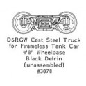 "GRANDT LINE 3078 - On3 CAST STEEL TRUCK - 56"" WHEELBASE FOR GRAMPS TANKCAR"