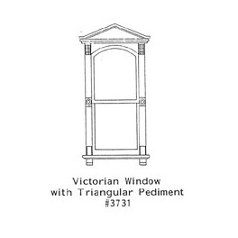 GRANDT LINE 3731 - VICTORIAN WINDOW WITH TRIANGULAR PEDIMENT - O SCALE