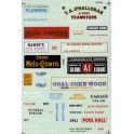 MICROSCALE DECAL 60-165 - STRUCTURE SIGNS - INDUSTRIAL TOWNS & CITIES - N SCALE