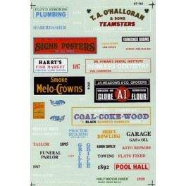 MICROSCALE DECAL 60-165 - STRUCTURE SIGNS - INDUSTRIAL TOWNS & CITIES