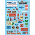 MICROSCALE DECAL 60-197 - STRUCTURE SIGNS - AUTOMOTIVE & DRINKS - N SCALE