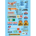 MICROSCALE DECAL 60-198 - STRUCTURE SIGNS - AUTOMOTIVE & BUSINESSES - N SCALE
