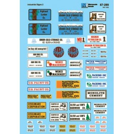 MICROSCALE DECAL 60-289 - INDUSTRIAL SIGNS - N SCALE
