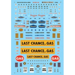 MICROSCALE DECAL 60-853 - SIGNS FOR SERVICE STATION - 1945+ - N SCALE