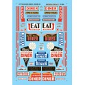 MICROSCALE DECAL 60-983 - ROADSIDE DINER SIGNS - N SCALE