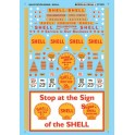 MICROSCALE DECAL 60-993 - SHELL GAS STATION SIGNS - N SCALE