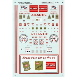 MICROSCALE DECAL 60-1017 - ATLANTIC REFINING GAS STATION SIGNS