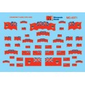 MICROSCALE DECAL 60-4371 - CANADIAN FLAGS - PRE 1965 - N SCALE