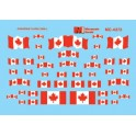 MICROSCALE DECAL 60-4372 - CANADIAN FLAGS - POST 1965 - N SCALE