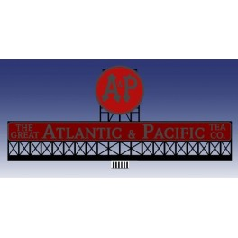 MILLER 44-0152 - NEON SIGN - ATLANTIC & PACIFIC BILLBOARD - SMALL