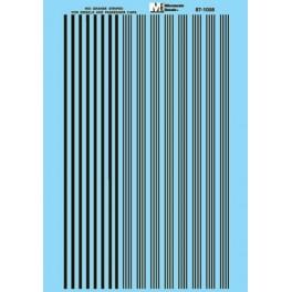 MICROSCALE DECAL 87-1058 - DENVER & RIO GRANDE WESTERN BLACK STRIPES - HO SCALE