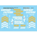 MICROSCALE DECAL MC-4008 - GATEWAY EASTERN / GATEWAY WESTERN DIESEL LOCOMOTIVES