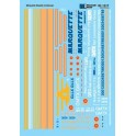 MICROSCALE DECAL 87-1317 - GATX RAIL / MARQUETTE DIESEL LOCOMOTIVES & CABOOSES - HO SCALE