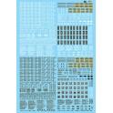 MICROSCALE DECAL 60-1 - FREIGHT CAR DATA - N SCALE