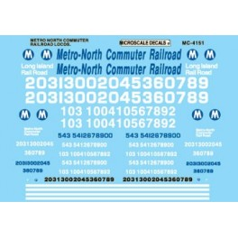 MICROSCALE DECAL MC-4151 - METRO NORTH DIESEL LOCOMOTIVES