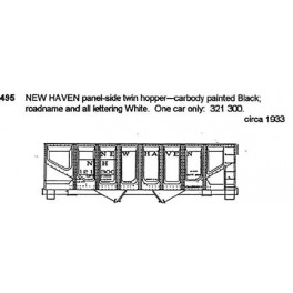 CDS DRY TRANSFER HO-495  NEW HAVEN 2 BAY PANEL SIDE HOPPER