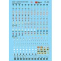 MICROSCALE DECAL 87-852 - CONTAINER & TRAILER DATA  - HO SCALE
