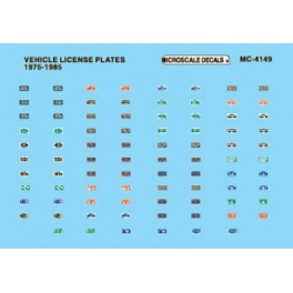 MICROSCALE DECAL MC-4149 - VEHICLE LICENSE PLATES