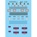 MICROSCALE DECAL 87-387 - DELIVERY VANS - KILPATRICKS BREAD, EARTH GRAINS, MOTHERS COOKIES, WONDER BREAD
