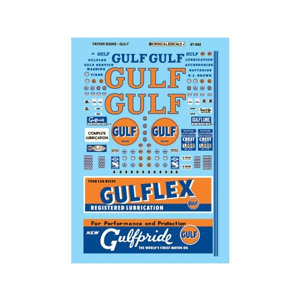 MICROSCALE DECAL 87-902 - GULF GAS STATION SIGNS