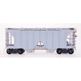 INTERMOUNTAIN 43699 - UNDECORATED KIT - 1958 CU.FT. 2 BAY COVERED HOPPER - OPEN SIDE