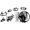 CAL-SCALE 190-324 - UNDERBODY BRAKE SYSTEM FOR EXPRESS REEFER
