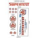 SCALE SIGNS - SUPR-3 - SUPERTEST GAS STATION SIGNS - HO SCALE