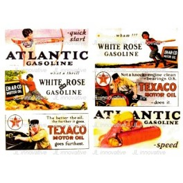 JL INNOVATIVE - 162 - GAS STATION / OIL BILLBOARD SIGNS - 1920s