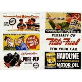 JL INNOVATIVE - 165 - GAS STATION / OIL BILLBOARD SIGNS - 1950s
