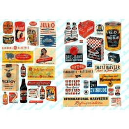 JL INNOVATIVE - 182 - HOUSEHOLD POSTERS & SIGNS OF THE 1940s & 1950s - HO SCALE