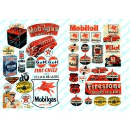 JL INNOVATIVE - 184 - GAS STATION & OIL POSTERS AND SIGNS 1940s AND 1950s
