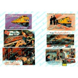JL INNOVATIVE - 186 - RAILROAD THEMED BILLBOARDS 1940s AND 1950s