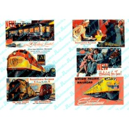 JL INNOVATIVE - 187 - RAILROAD THEMED BILLBOARDS 1940s AND 1950s