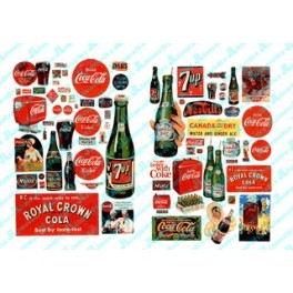 JL INNOVATIVE - 197 - VINTAGE SOFT DRINK SIGNS 1930s -1960s