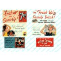 JL INNOVATIVE - 198 - VINTAGE SOFT DRINK BILLBOARDS 1930s -1960s - HO SCALE