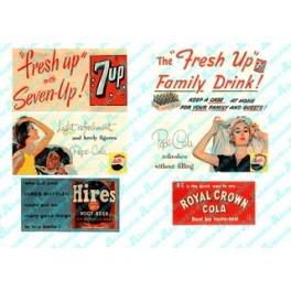 JL INNOVATIVE - 198 - VINTAGE SOFT DRINK BILLBOARDS 1930s -1960s