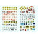 JL INNOVATIVE - 202 - UNCOMMON STREET & PARKING SIGNS - HO SCALE