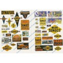 JL INNOVATIVE - 237 - SUNOCO GAS STATION SIGNS - HO SCALE