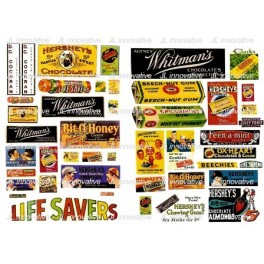 JL INNOVATIVE - 266 - VINTAGE CANDY POSTERS & SIGNS - 1930s TO 1950s