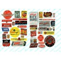 JL INNOVATIVE - 282 - CONSUMER PRODUCT SIGNS 1940s -1950s - HO SCALE