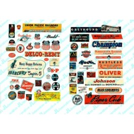 JL INNOVATIVE - 283 - PLANES / TRAINS / INDUSTRIAL SIGNS - 1940s - 1950s