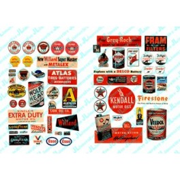 JL INNOVATIVE - 284 - GAS STATION / OIL SIGNS 1930s -1960s - CONTAINS 55 FULL COLOUR POSTERS & SIGNS