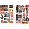 JL INNOVATIVE - 294 - VINTAGE MOTOR OIL SIGNS - 1930s - 1950s - HO SCALE