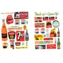 JL INNOVATIVE - 297 - VINTAGE SOFT DRINK SIGNS - 1930s - 1950s - HO SCALE