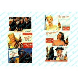 """JL INNOVATIVE - 298 - """"STARS OF THE PAST"""" RC COLA BILLBOARDS - 1940s-1950s"""