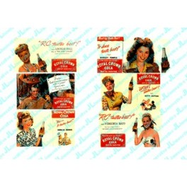 """JL INNOVATIVE - 299 - """"STARS OF THE PAST"""" RC COLA BILLBOARDS - 1940s-1950s"""