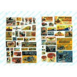JL INNOVATIVE - 304 - VINTAGE MOTORCYCLE SIGNS - 1920s -1950s - HO SCALE